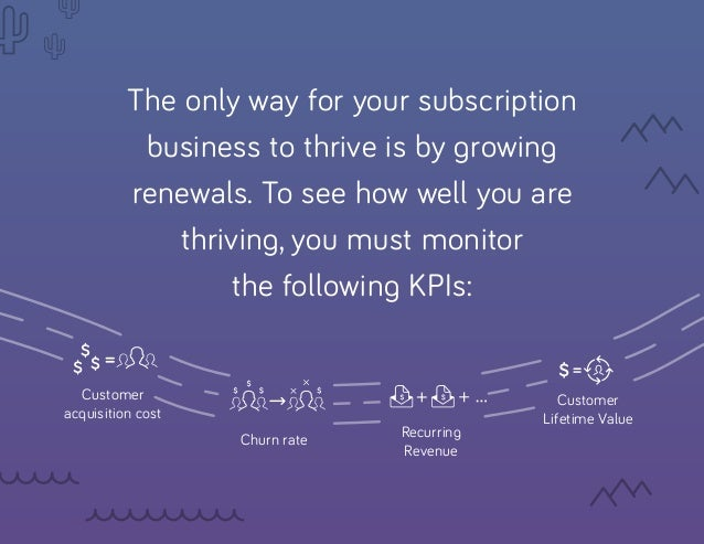 The only way for your subscription business to thrive is by growing renewals. To see how well you are thriving, you must m...