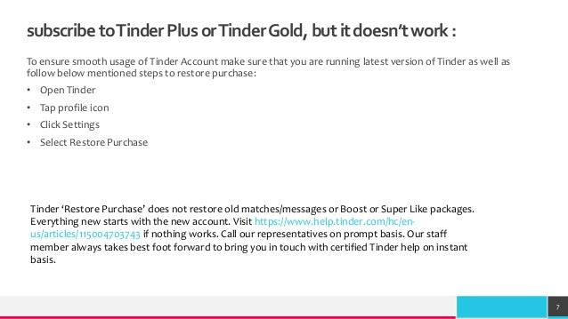 Subscription Issues Regarding Tinder Plus or Tinder Gold