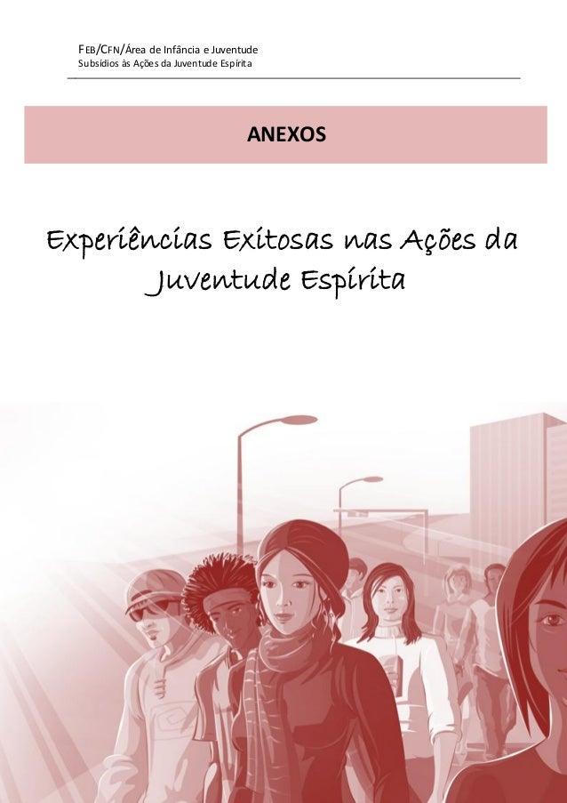 FEB/CFN/Área de Infância e Juventude Subsídios às Ações da Juventude Espírita 1 Experiências Exitosas nas Ações da Juventu...