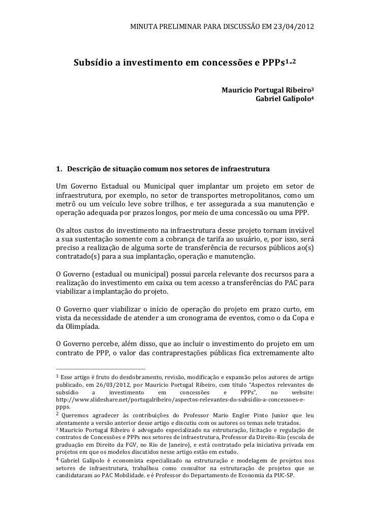 MINUTA PRELIMINAR PARA DISCUSSÃO EM 23/04/2012                                                              ...
