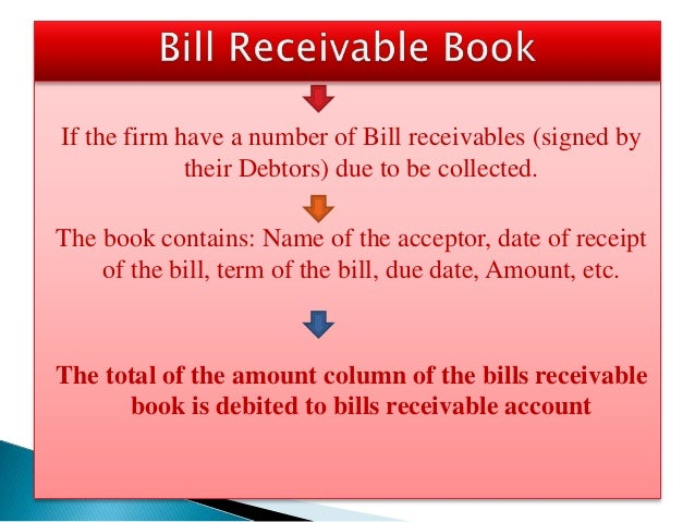 Accounting Process Subsidiary Books – Bill Receivables