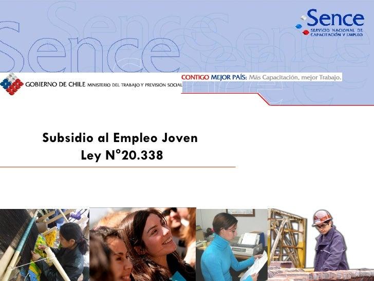 Subsidio al Empleo Joven  Ley N°20.338