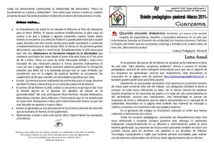 """Lema 2011todas sus dimensiones continuando la reflexividad del documento """"Hacia un                       Ojos Abiertos    ..."""
