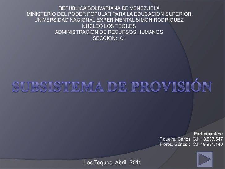 REPUBLICA BOLIVARIANA DE VENEZUELAMINISTERIO DEL PODER POPULAR PARA LA EDUCACION SUPERIOR   UNIVERSIDAD NACIONAL EXPERIMEN...