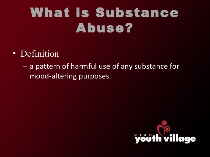 a history of substance abuse The problem of substance abuse has emerged as a major issue in society and  has become an area of major focus for healthcare professionals according to the .
