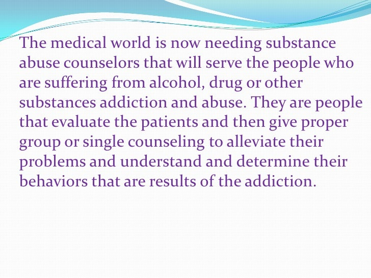 Substance Abuse Counselor Certification