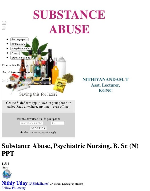 Substance abuse and nursing