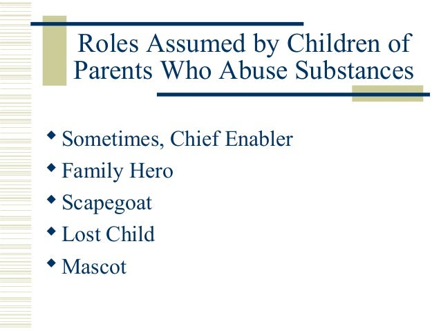 Substance Abuse & the Family (Revised - April 16th)