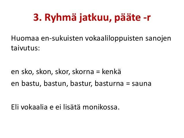 Ruotsin Sanojen Taivutus