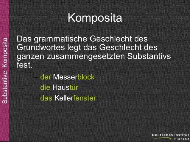 Substantive - Komposita