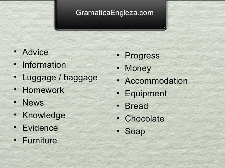 Substantive nenumarabile in engleza
