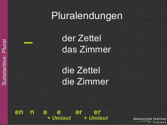 Substantive Pluralbildung