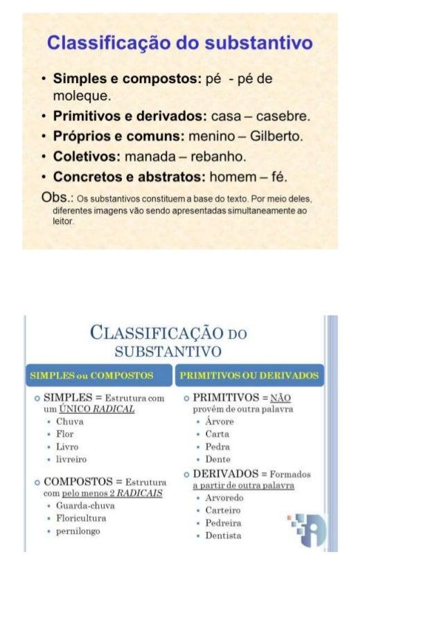 Classificação ? do su iastairiixzo  - Simples e compostos:  pé - pé de moleque.   - Primitivos e derivados:  casa - casebr...