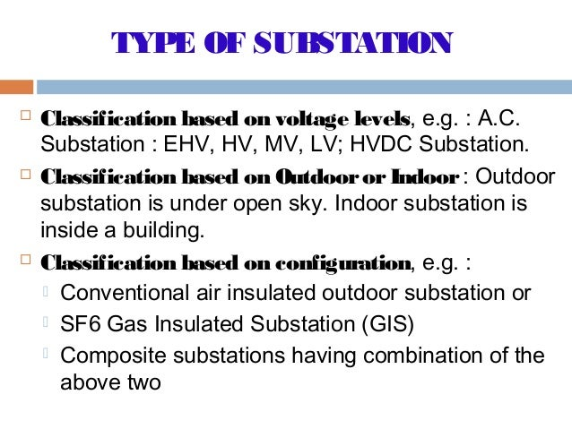 gas insulated substation types of substation Gas insulated substation (gis of design and detailed engineering services for gas insulated substations up to 400kv for national and of foundation type.