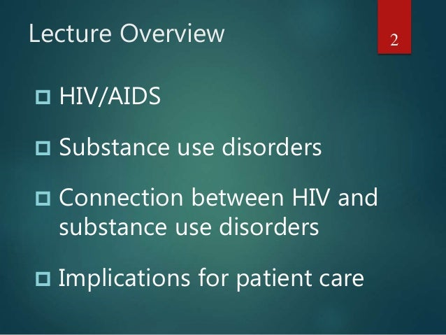Substence Abuse And Hiv
