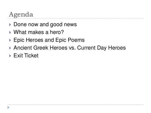 Epic Heroes and Epic Poems