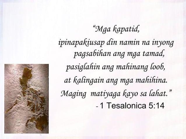 """""""Ngunit naging tao ang Anak ng Diyos sa pamamagitan ng kanyang pagkamatay ay ipinagkasundo kayo sa Diyos. Nang sa gayon, a..."""