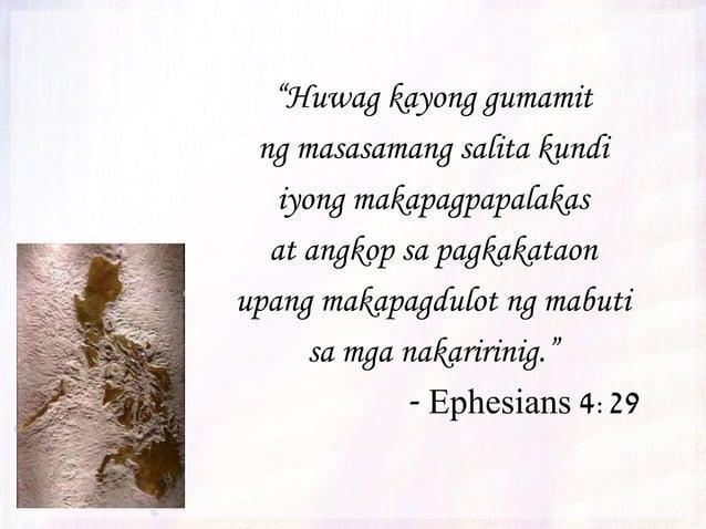 """""""Subalit kailangan ninyong manatiling tapat at matatag sa inyong pananampalataya at huwag pabayaang mawala ang pag-asang d..."""