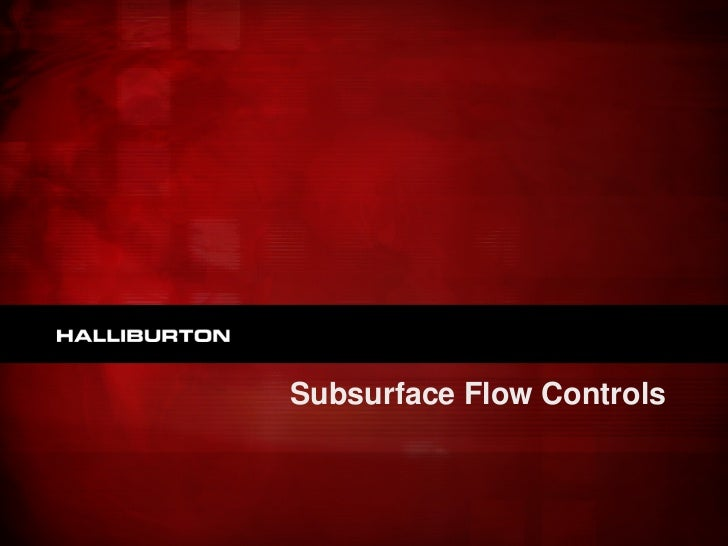 Subsurface Flow Controls