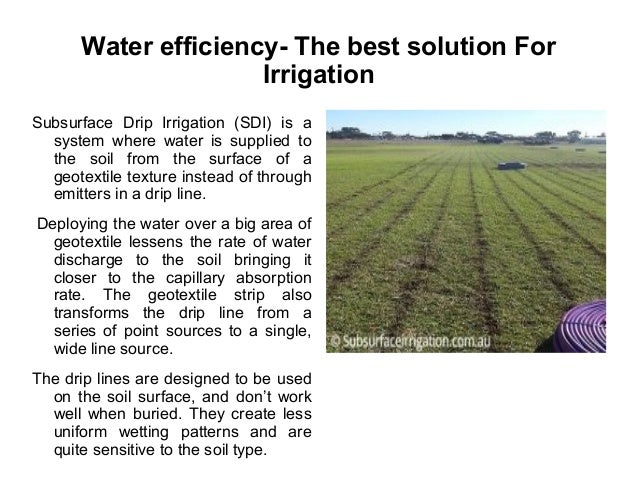 Subsurface Irrigation For Lawns