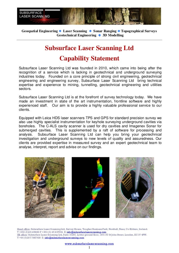 Geospatial Engineering Laser Scanning      Sonar Ranging Topographical Surveys                         Geotechnical Engine...