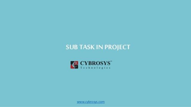 SUB TASK INPROJECT www.cybrosys.com