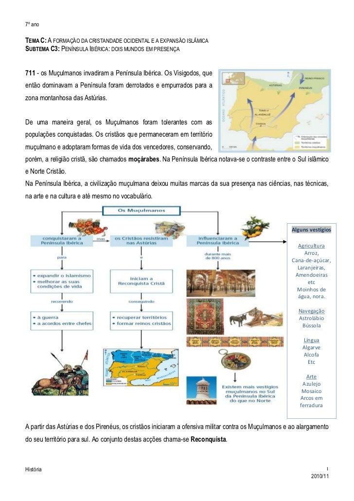 Tema C: A formação da cristandade ocidental e a expansão islâmica<br />Subtema C3: Península Ibérica: dois mundos em prese...