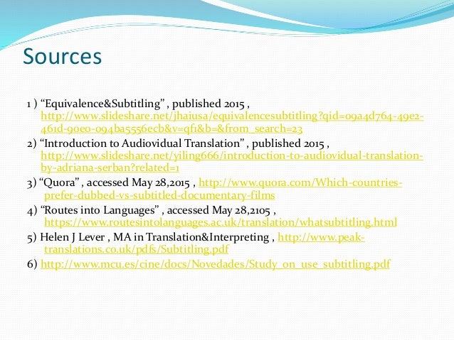 subtitling translation and subtitles Articles for translators and translation agencies: subtitling: subtitling and dubbing: restrictions and priorities.