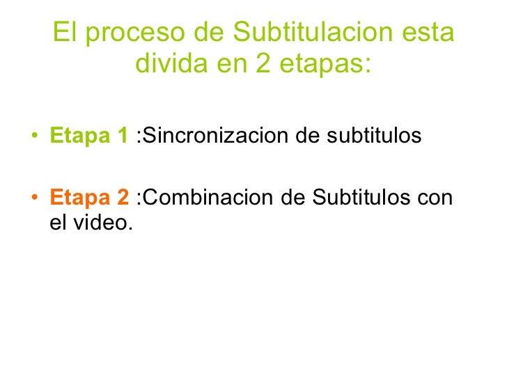 Subtitular Videos Slide 2
