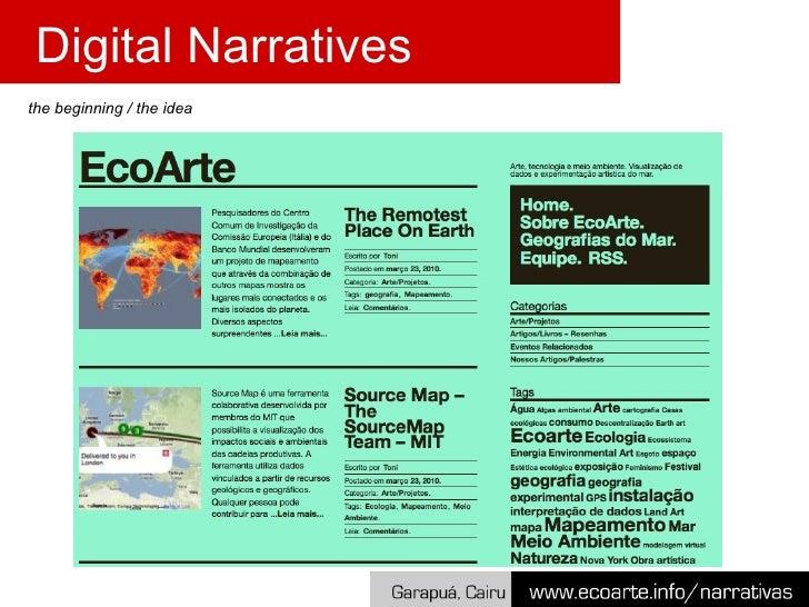 the beginning / the idea Digital Narratives