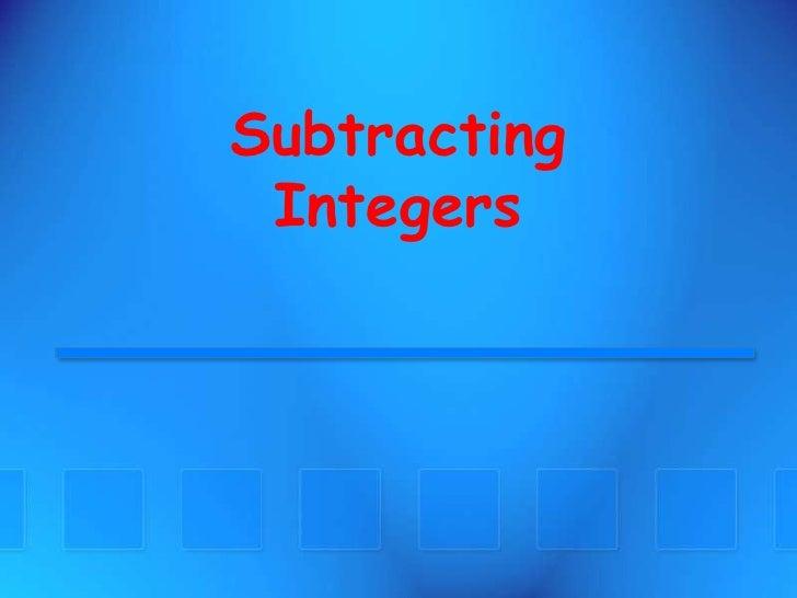SubtractingIntegers<br />