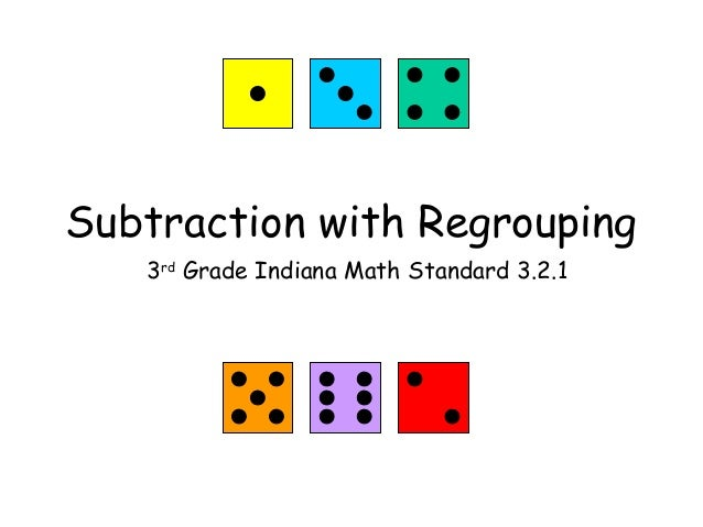 Subtraction with Regrouping 3rd Grade Indiana Math Standard 3.2.1