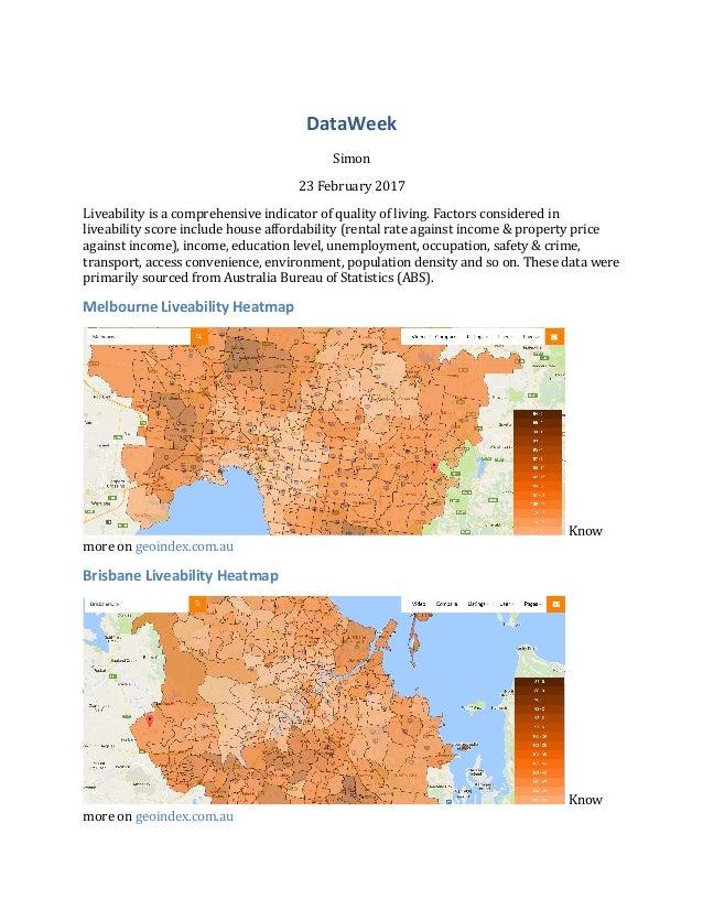 Livability Index of Suburbs in Australia