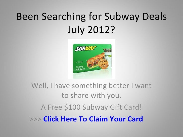 Subway Coupon Codes, Promos & Sales