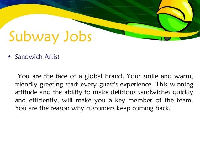 subway jobs 3 subway jobs sandwich artist