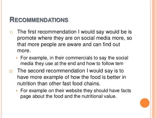 It Recommendation: Subway Social Media Audit