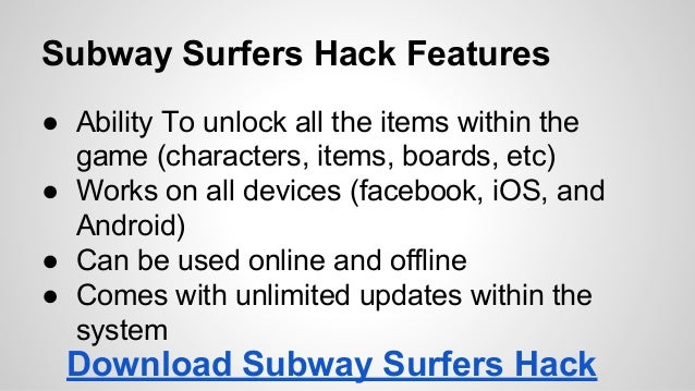 subway surfers cheats unlimited coins