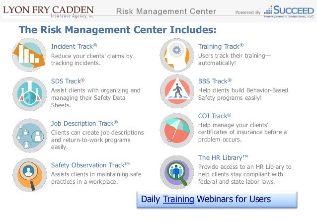 Overview of the Risk Management Center – Risk Management Job Description