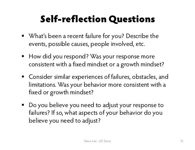 student self reflection questions pdf