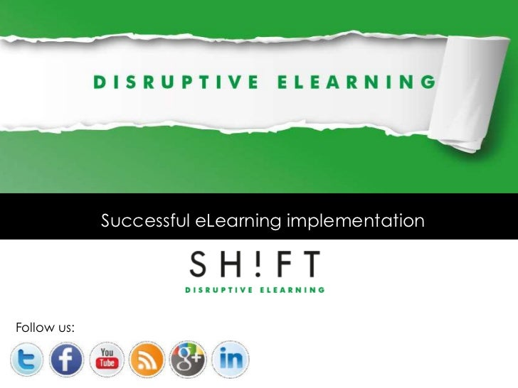 Successful eLearning implementationFollow us: