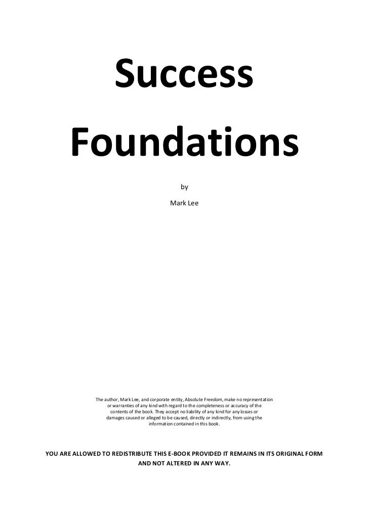 Success       Foundations                                                       by                                    ...