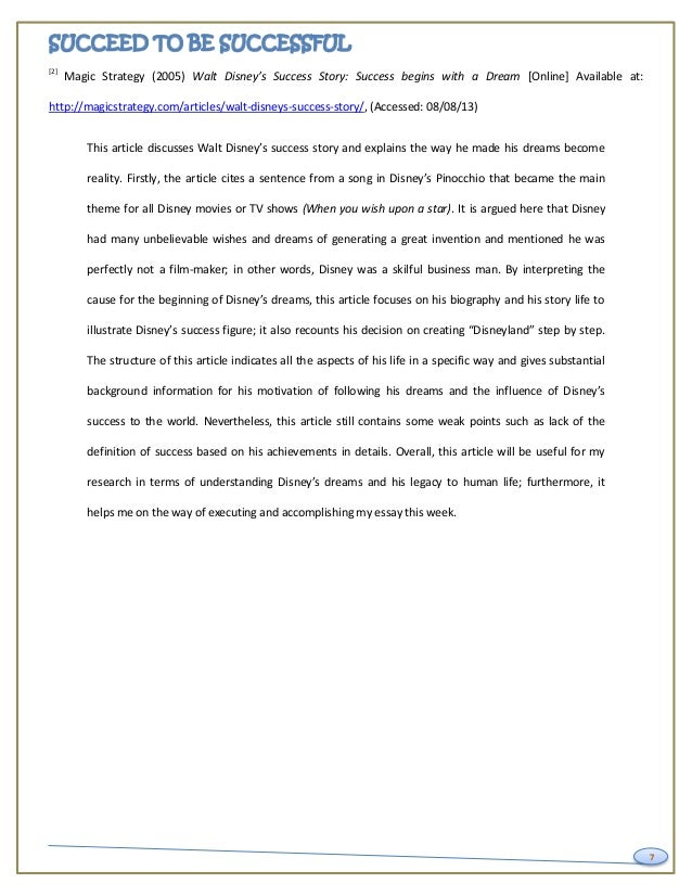 key to success essay