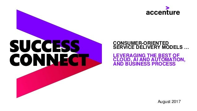 SUCCESS CONNECT CONSUMER-ORIENTED SERVICE DELIVERY MODELS … LEVERAGING THE BEST OF CLOUD, AI AND AUTOMATION, AND BUSINESS ...