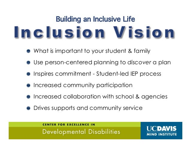 Tools for Creating a Vision of InclusionTools for Creating a Vision of Inclusion INCLUSION VISION Future driven Family dir...