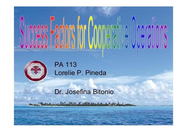 PA 113 Lorelie P. Pineda Dr. Josefina Bitonio