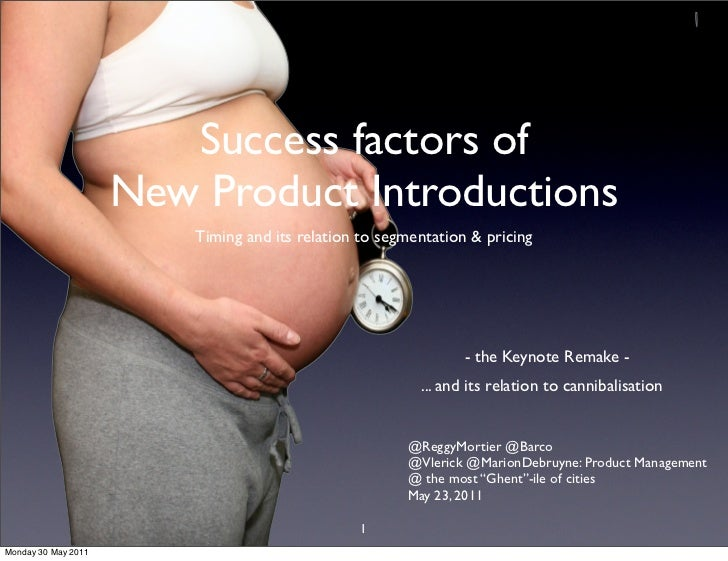 Success factors of                     New Product Introductions                         Timing and its relation to segmen...