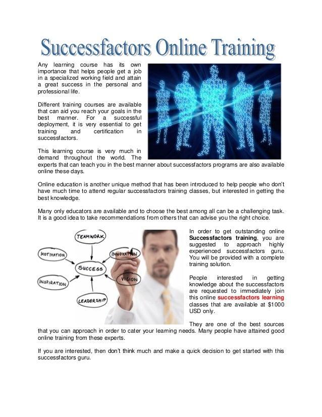 Successfactors Training Learning Certification