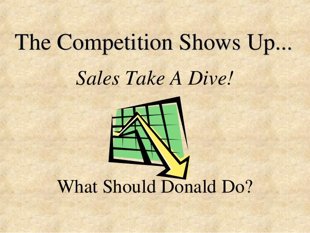 The Competition Shows Up...  Sales Take A Dive!  What Should Donald Do?