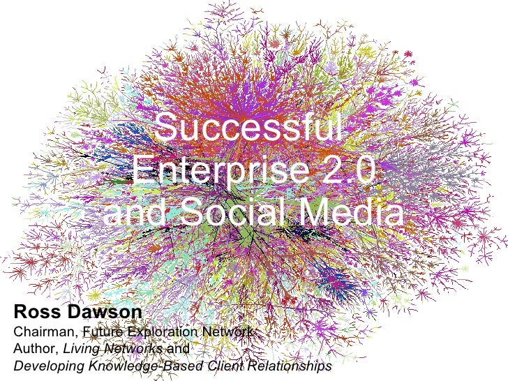 Successful  Enterprise 2.0 and Social Media Ross Dawson Chairman, Future Exploration Network Author,  Living Networks  and...