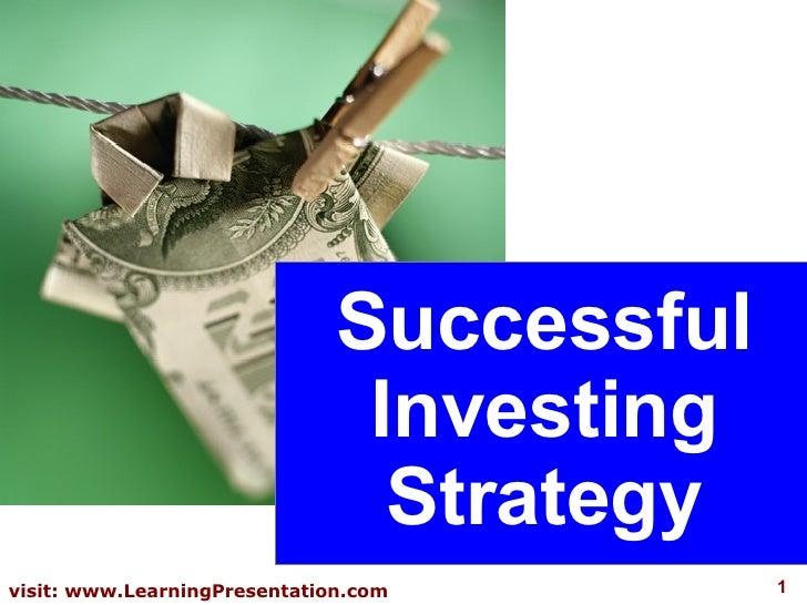 Successful Investing Strategy